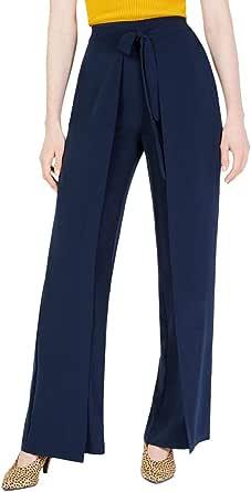 Bar III Womens Drapey Tie Waist Dress Pants