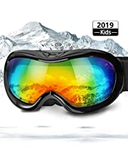 Zenoplige Ski Goggles 2019 Newest Ski Glasses Snowboard Goggles for Men&Women Anti-Fog Anti-Glare UV protection Dual Lens With Cleanable Dust Bag for Skiing Helmet Compatible (Blue Frame-Blue)