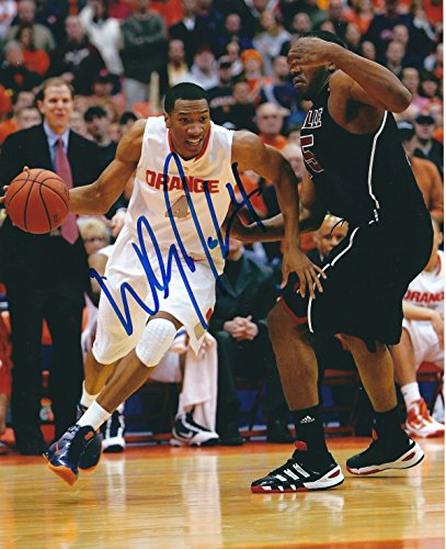 Syracuse Orange Photo - Autographed Wesley Johnson 8x10 Syracuse Orange Photo