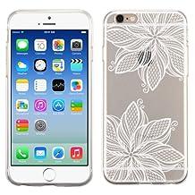 PhoneTatoos (TM) Iphone 5S Boho Mandala Transparent Clear Candy Skin Cover (White)
