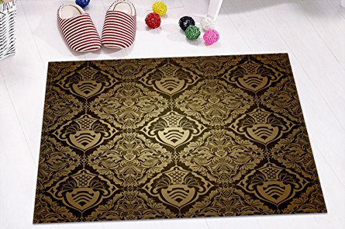 LB Wallpaper Pattern Concise Wall Art Decoration Stylish Bath Rugs 3D 16x24 Inch Customized Personality Dark Gold Tribal Totem Outdoor Indoor Front Door Mat Non-slip Bath Mat