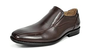 Bruno MARC DP01 Men's Loafers Dress Classic Formal Oxfords Slip On Leather Lining Modern Shoes DARK BROWN SIZE 10