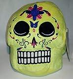 """Yellow Skull Day of the Dead Día De Los Muertos 7"""" Plush"""