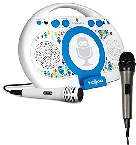 Bundle Includes 2 Items - Singing Machine ISM398BT Karaoke System Home and Singing Machine SMM-205 Unidirectional Dynamic Microphone with 10 Ft. Cord ()