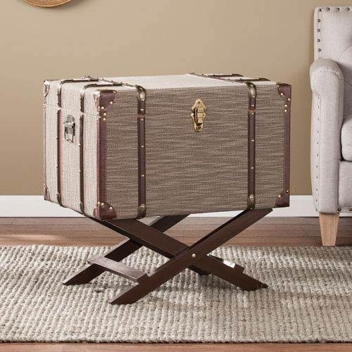 Southern Enterprises Linen Trunk File Storage