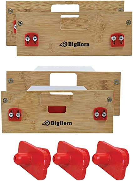 Big Horn 70156 A Latch /& Strike Template Kit Finish Size 1-Inch x 2-1//4-Inch Replaces Templaco LS-166A