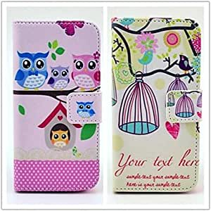 JJEOwl's Home Pattern PU Leather Case with Stand and Card Slot for iPhone 5/5S(2-pack)