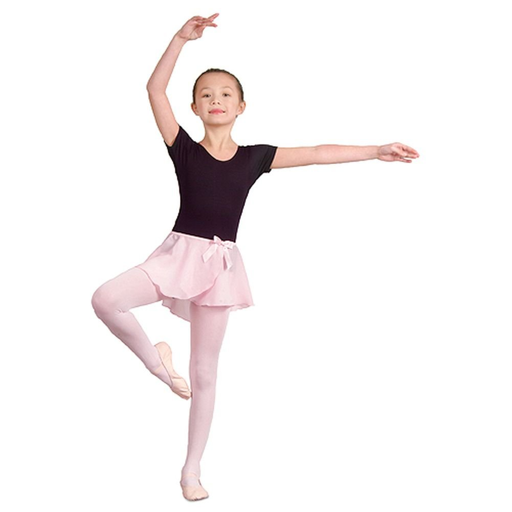 Danshuz Toddler Little Girls Pink Mock Wrap Skirt Dancewear 2T-14