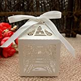 50pcs Paper Candy Box Paris Eiffel Tower Gifts Gift Box Christmas Wedding Party Supplies Wedding...