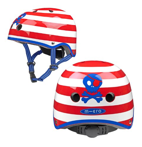 Cheap KickBoard USA Micro Helmet – Small Pirate Stripe