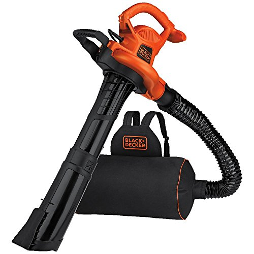 (BLACK+DECKER 3-in-1 Electric Leaf Blower, Leaf Vacuum, Mulcher (BEBL7000))