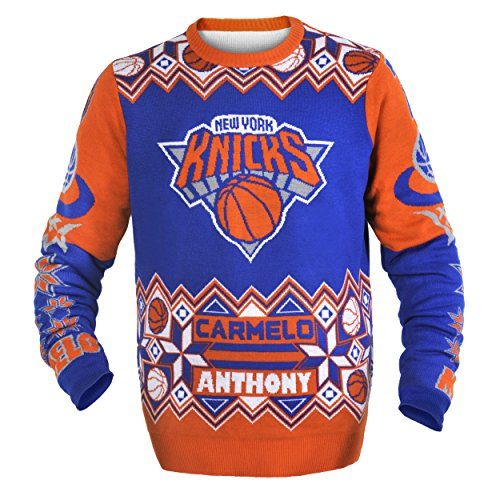 New York Knicks Anthony C. #7 Player Ugly Sweater Extra - Anthony Sweater