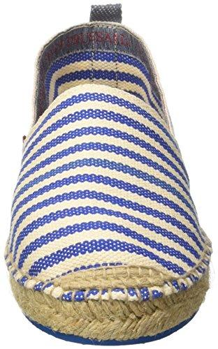 Trussardi Rigato 77S57553 Denim Jeans Espadrillas Uomo Blu Basse wASwrx