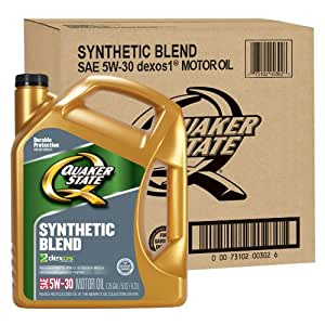 Quaker State 550039411 3pk Synthetic Blend 5w 30 Motor Oil Lubricant 5 Quart 3