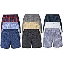 Reed Edward Men's Classic Boxers Brief Sleep Shorts Underwear Assorted 3, 6, 9, 12 Pack