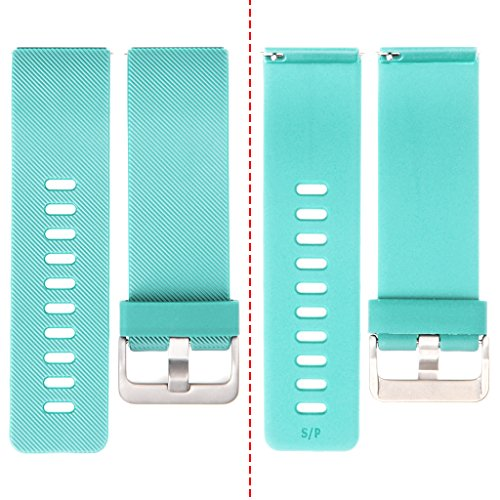 Henoda Silicone Bands for Fitbit Blaze Smart Fitness Classic Turquoise Large