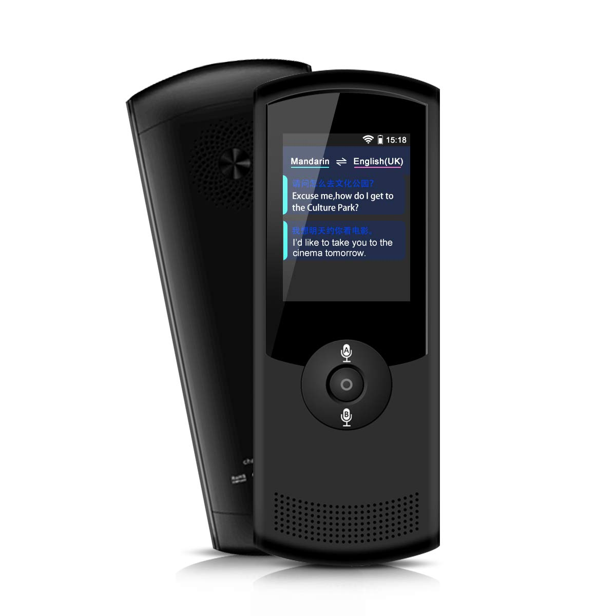 Translator Device, 42 Language Two-Way Smart Voice Translator, Simultaneous and Accurate Response, Portable Translation for Learning Travel Business Shopping