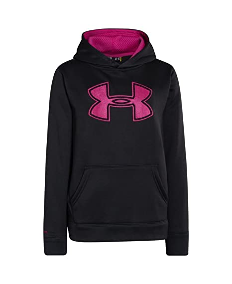 sports shoes e4c50 ed8b5 Image Unavailable. Image not available for. Color  Under Armour Boys  UA  Storm Armour Fleece Big Logo Hoodie X-Small Asphalt Heather