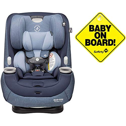 Maxi-Cosi Pria Max 3-in-1 Convertible Car Seat - Nomad Blue with Baby on Board Sign
