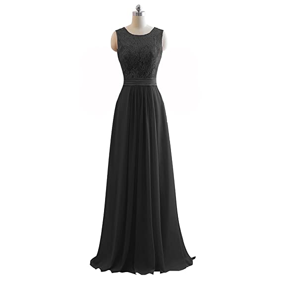 JinXuanYa Womens Sequin Bridesmaid Dress Sleeveless Maxi Evening Prom Dresses(US2, Black)