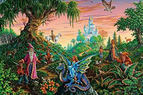 - Michael Fishel Enchanted Encounter Colorful Fantasy Art Print Poster 36x24 inch