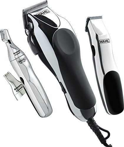 Wahl 30 Piece Haircutting Hair Clippers Combo Kit with CORDLESS Touch-Up and Personal Trimmer, BONUS FREE OldSpice Bodyspray Included