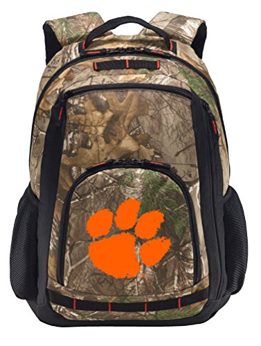 Clemson Camo Backpack REALTREE Clemson Tigers Backpacks - Laptop Section! by Broad Bay
