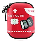 I Go Compact First Aid Kit – Hard Shell Case for Hiking, Camping, Travel, Car – 85 Pieces