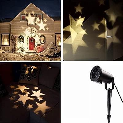 Locisne Lámpara de Proyección de Navidad, Súper Brillante al Aire Libre o Interior Impermeable IP44 HD Efecto Moving LED Lámpara Luz Proyector de ...