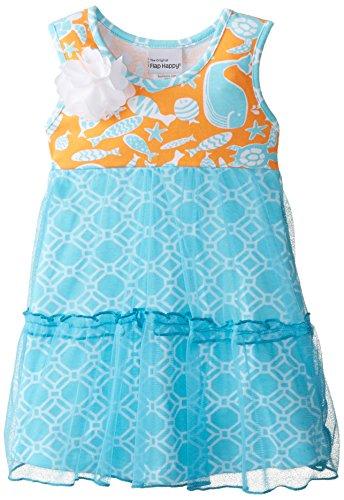 Flap Happy Baby Girls' Savannah Dress, Aquatic Rings, 18 Months (Flap Happy Clothes)