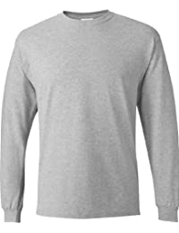 Men's TAGLESS Comfortsoft Long-Sleeve T-Shirt, Light Steel, Medium