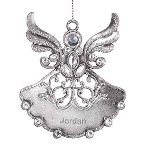 Miles Kimball Personalized Birthstone Angel Pewter Ornament - April -