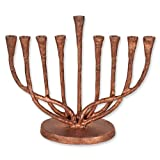 Cheap Rustic Copper Finish Hanukkah Menorah