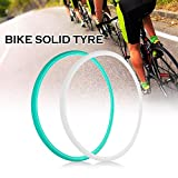 Lixada 70023C Road Bike Cycling Bicycle Solid Tyre Fixie Bike Cycling Tire Fixed Gear Solid Tube Free Inflation Rubber Tire