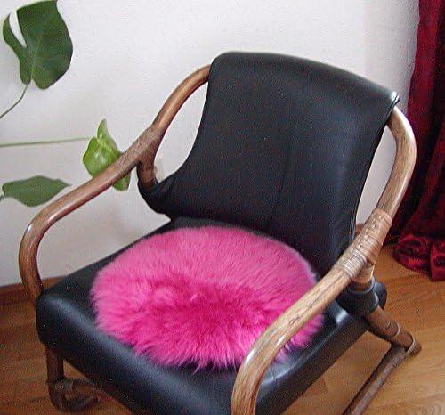 Heitmann Runde Sitzauflage Aus Australischen Lammfellen Fellkissen Pink Ø Ca 45 Cm Waschbar Haarlänge Ca 70 Mm Auto