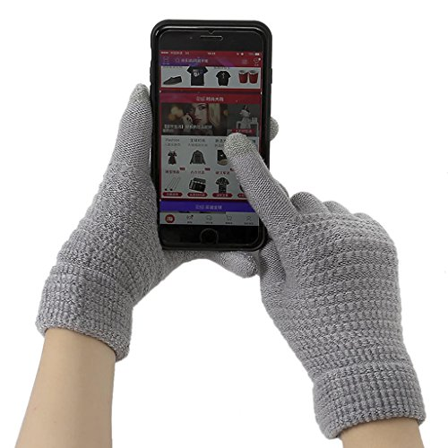 Unisex Touch Screen Gloves, Women Men Touchscreen Texting Gloves Hand Warmer Thermal Mittens Outdoor Sports Cycling Motorcycle Hiking Windproof Winter Thick Wool Knitted Warm Gloves Chritsmas -