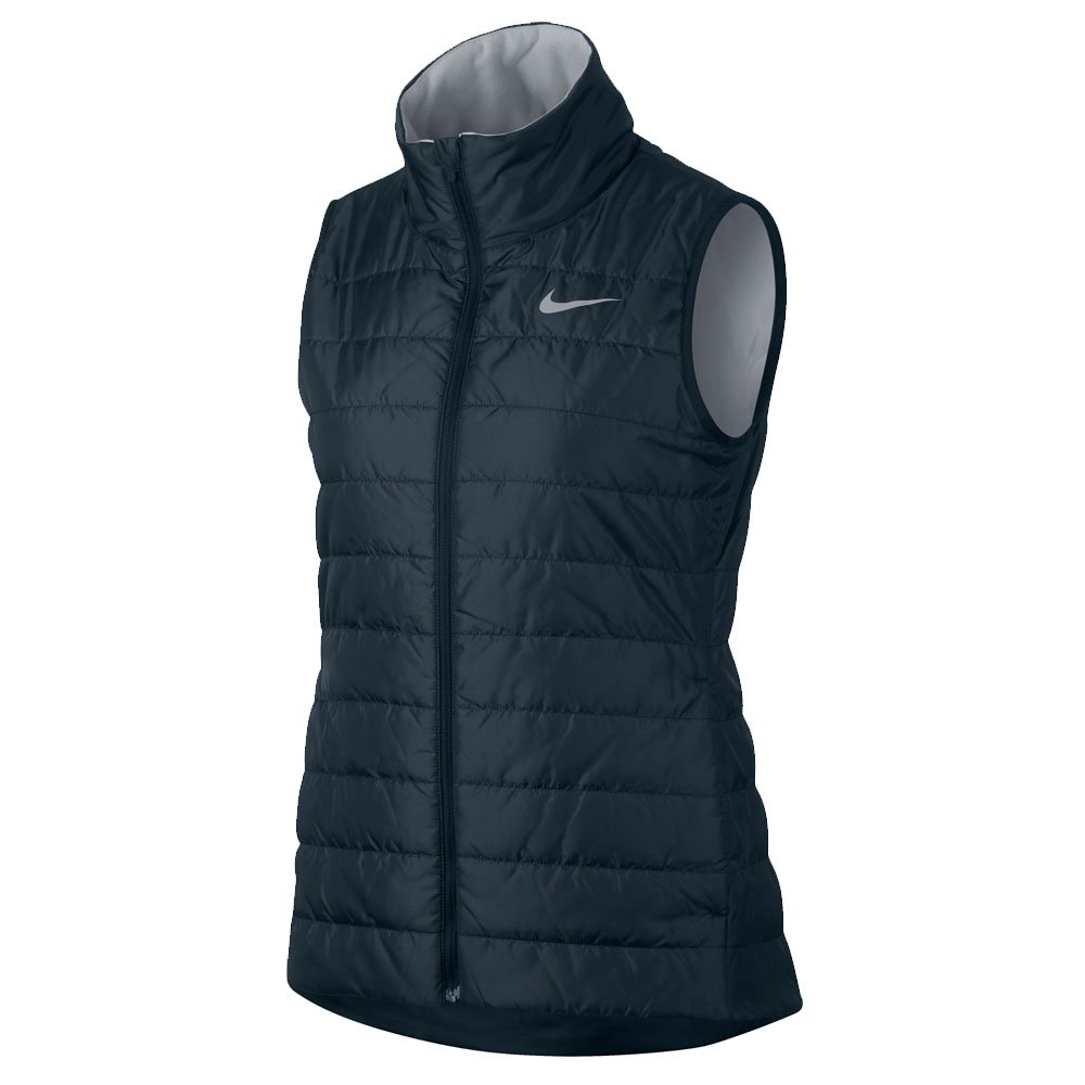NIKE Repel Full Zip Warm Golf Vest 2017 Women Armory Navy/Wolf Gray X-Small