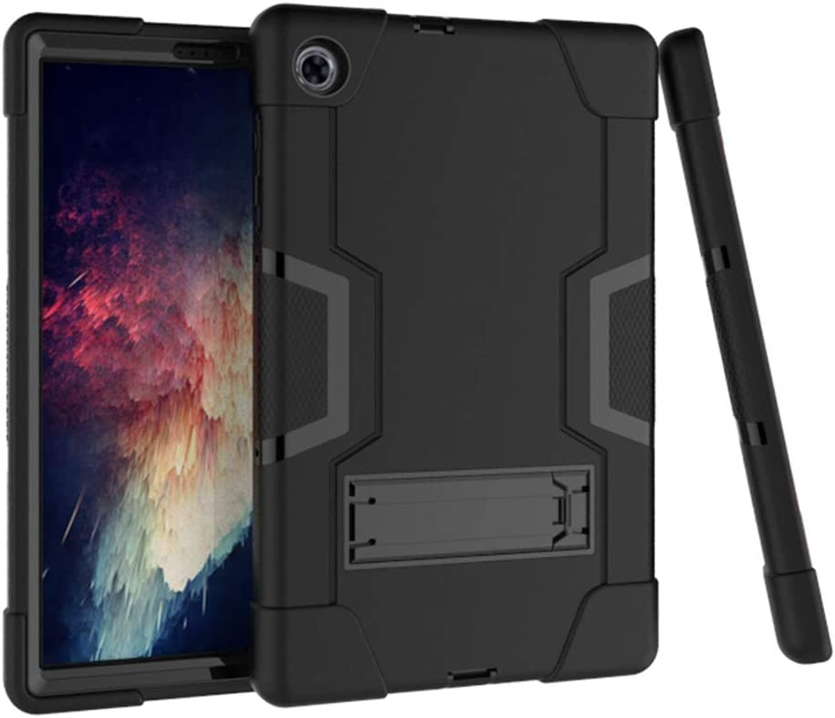 """Koolbei Case for Lenovo M10 Plus Case,Heavy-Duty Drop-Proof and Shock-Resistant Rugged Hybrid case(with Built-in Stand), for Lenovo Tab M10 Plus TB-X606F/TB-X606X 10.3"""" FHD Tablet (Black)"""