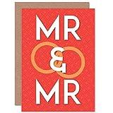 Wedding Marriage MR MR Same Sex Gay Greetings Gift Card