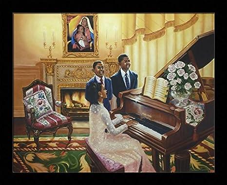 Yes. Jesus Loves Me (Religious) – Katherine Roundtree 16×20 Black Framed