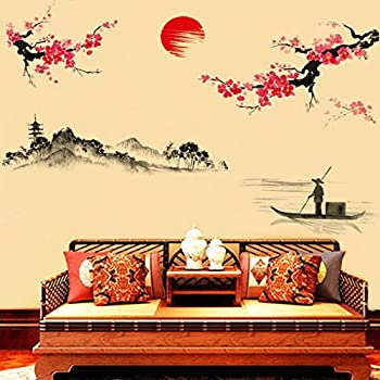 Amazon.com : Hatop Creative Classical Chinese Style Ink Painting ...