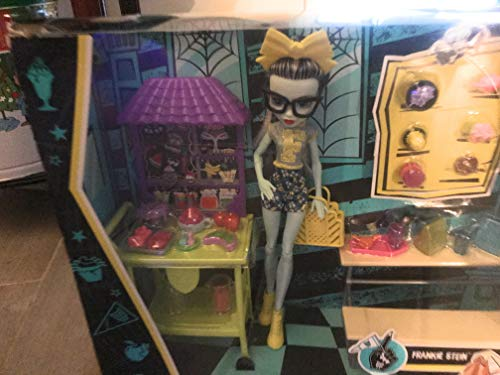Monster High - School Spirit Frankie Stein Doll Lunch Playset - Get Ready for Lunchtime Party at Monster High! Great Gift for any Monster High Fan for $<!--$34.99-->