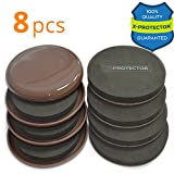 Furniture Sliders X-PROTECTOR – BEST 8-Pack 4 3/4 inch Furniture Sliders For Carpet & Heavy Felt Sliders Moving Furniture Pads. Reusable Furniture Movers for ALL Surfaces – Carpeted, Hardwood, etc.