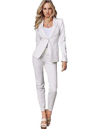 11f87c73e14d2 YSMO Women's Slim Suits 2 Piece Set Women Tuxedo Ladies Office ...