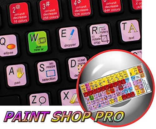 NEW PAINT SHOP PRO STICKERS FOR KEYBOARD