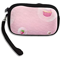 Zipper Small Wallet Pink Candy Strawberry Cake Women's Purse Porte-monnaie Clutch Cards Holder Wallet Purse Business Card Wallet