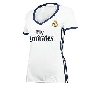 2016 Real Madrid Mujer Casa 2016 - 2017 Fútbol Jersey, L, Home: Amazon.es: Deportes y aire libre