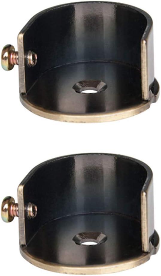 Homoyo - 2 barras de metal para barra de cortina, instalación fácil para cuarto de baño, cortina de ducha, bronce