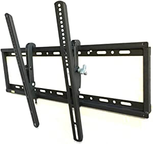 AXXISTECH Large TV Mount - Tilting Low Profile TV Wall Mount Bracket for 32-80 inch TVs - 15 Degrees of Down Tilt for LED, LCD, OLED Flat Screen TVs with VESA Patterns to 600 x 400