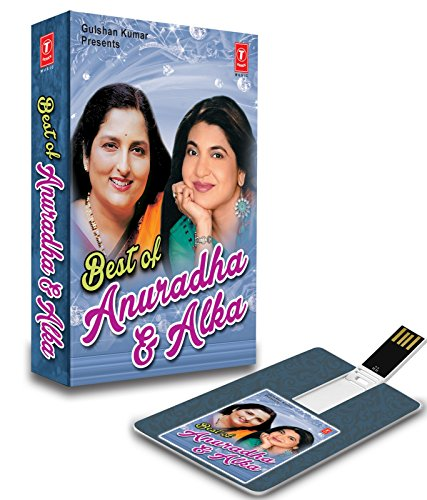 Price comparison product image Best of Anuradha and Alka Original Hindi Songs Music Card